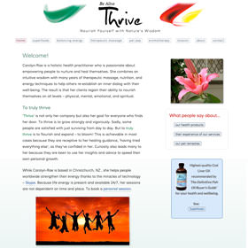 Be Alive Thrive with Carolyn-Rae - responsive website