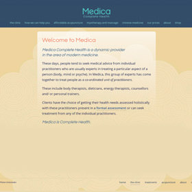 Medica Complete Health East Brunswick responsive website