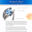 UniquelyYoursCustomJewelry.com website screenshot