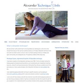 Alexander Technique Info with Penelope Easten - responsive website