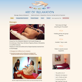 Art of Relaxation with Suzy Toth - responsive website