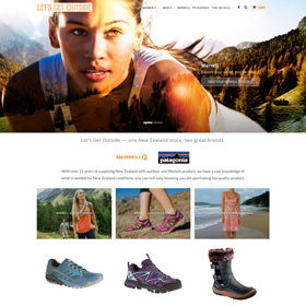 Merrell New Zealand eCommerce Shopify website - responsive website
