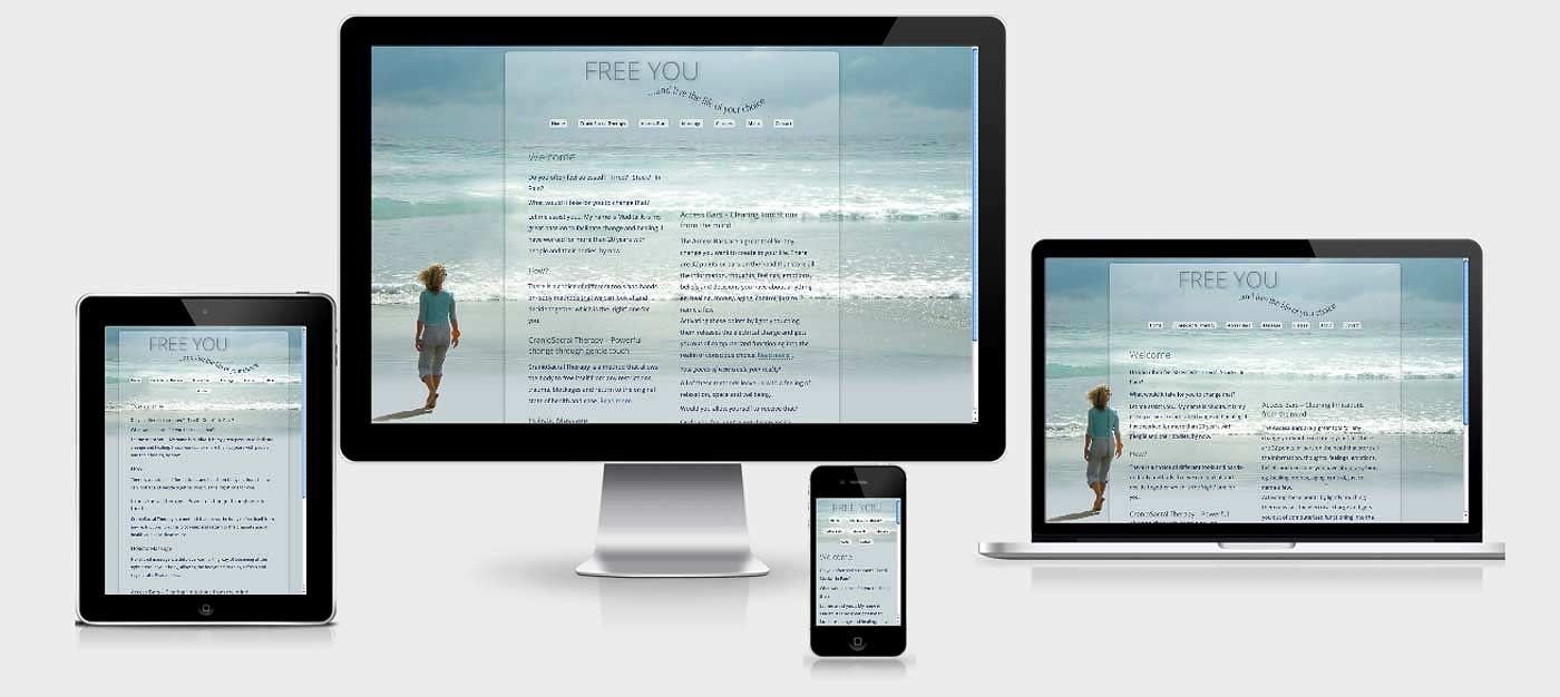 'Free You' responsive web design