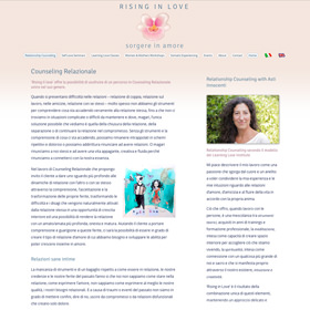 Rising in Love with Asti Marica Innocenti responsive website